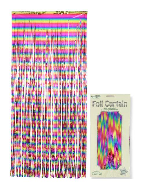 Foil Curtain Rainbow