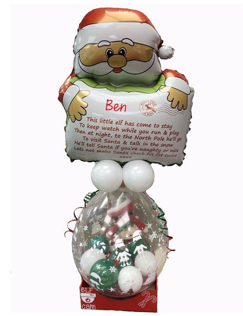 Santa with Elf Balloon